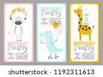 set of birthday party... | Shutterstock .eps vector #1192311613