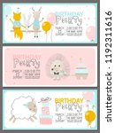 set of birthday party... | Shutterstock .eps vector #1192311616