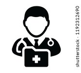 doctor icon vector male person... | Shutterstock .eps vector #1192312690