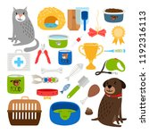 cat and dog items. stuff for... | Shutterstock .eps vector #1192316113