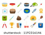 pets related icons set on white ... | Shutterstock .eps vector #1192316146