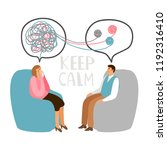 psychotherapy concept... | Shutterstock .eps vector #1192316410