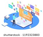 developing programming and... | Shutterstock .eps vector #1192323883