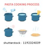 cooking tasty pasta for the... | Shutterstock .eps vector #1192324039
