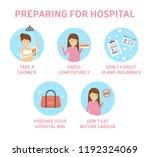 tips for expectant mother how... | Shutterstock .eps vector #1192324069