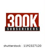 subscribers number vector icon. ... | Shutterstock .eps vector #1192327120
