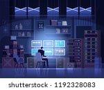 dangerous hacker breaks into... | Shutterstock .eps vector #1192328083