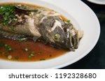 steamed fish   thai food. | Shutterstock . vector #1192328680