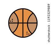 basketball colour line icon   Shutterstock .eps vector #1192329889