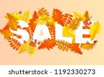 autumn sale background with... | Shutterstock .eps vector #1192330273