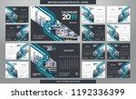 desk calendar 2019 template  ... | Shutterstock .eps vector #1192336399