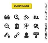 support icons set with two...