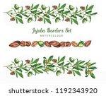 hand drawn watercolor design... | Shutterstock . vector #1192343920