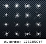 set of glowing light effects.... | Shutterstock .eps vector #1192350769