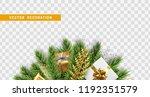 christmas design. composition... | Shutterstock .eps vector #1192351579