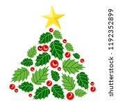 cute christmas tree made of... | Shutterstock .eps vector #1192352899