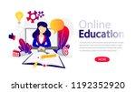 online education horizontal... | Shutterstock .eps vector #1192352920