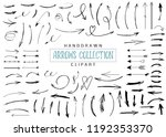 handdrawn arrows big collection.... | Shutterstock .eps vector #1192353370