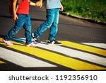 little boy and girl holding... | Shutterstock . vector #1192356910