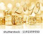 2019 new year card  small... | Shutterstock . vector #1192359550