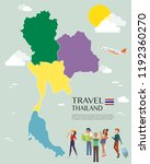 map of thailand vector and... | Shutterstock .eps vector #1192360270