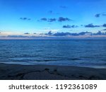 seascape at dusk or seascape at ... | Shutterstock . vector #1192361089