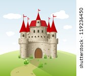 fairy tale castle on a green... | Shutterstock .eps vector #119236450