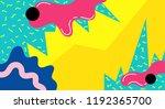 memphis abstract pop art line... | Shutterstock .eps vector #1192365700
