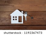 symbol of house with key on... | Shutterstock . vector #1192367473