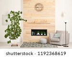 stylish room interior with...   Shutterstock . vector #1192368619