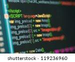 html code on lcd screen | Shutterstock . vector #119236960