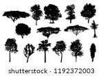 the collection of black trees... | Shutterstock . vector #1192372003
