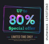 up to 80  percent sale... | Shutterstock .eps vector #1192372063