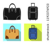 vector design of suitcase and... | Shutterstock .eps vector #1192376923