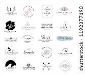 logo templates collection. logo ... | Shutterstock .eps vector #1192377190