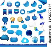 big set from symbols and... | Shutterstock .eps vector #1192377649
