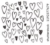 hand drawn collection of... | Shutterstock .eps vector #1192377679