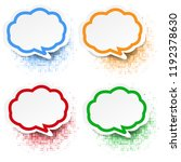 speech bubble set white... | Shutterstock . vector #1192378630