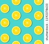 lemon isolated mint background... | Shutterstock .eps vector #1192378633