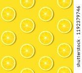 lemon  on yellow background... | Shutterstock .eps vector #1192379746