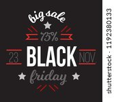 big sale black friday up to 75... | Shutterstock .eps vector #1192380133