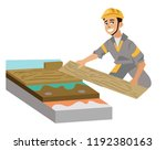 parquet in cut poster with... | Shutterstock .eps vector #1192380163