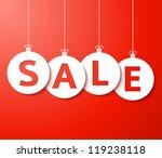 christmas sale balls  cut the... | Shutterstock .eps vector #119238118