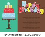 happy birthday cake card design.... | Shutterstock .eps vector #119238490