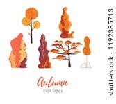 autumn vector flat set.fantasy... | Shutterstock .eps vector #1192385713