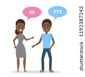 angry african american woman... | Shutterstock .eps vector #1192387243