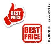 best price sign  | Shutterstock . vector #1192390663