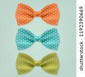 3 bow tie  | Shutterstock . vector #1192390669
