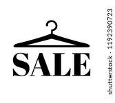 hanger with sale text  | Shutterstock . vector #1192390723