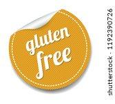 gluten free label lsolated... | Shutterstock . vector #1192390726